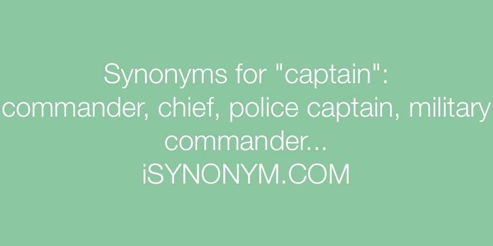 Synonyms captain