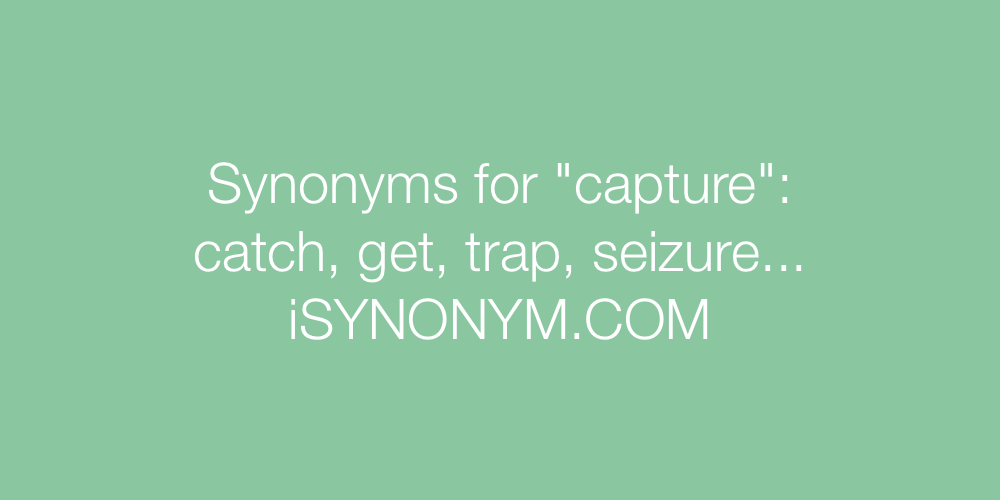 Synonyms capture