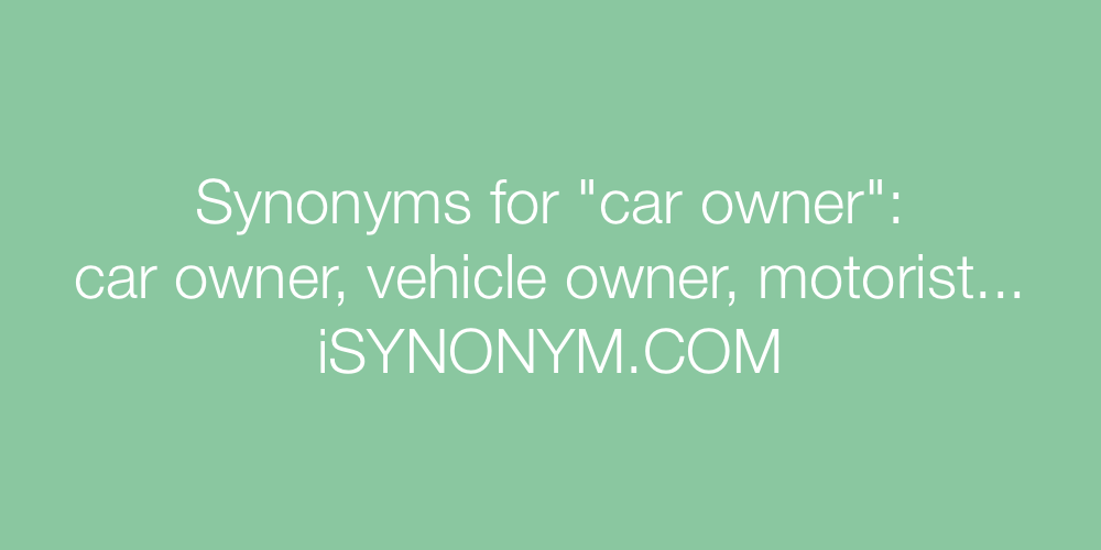 Synonyms car owner