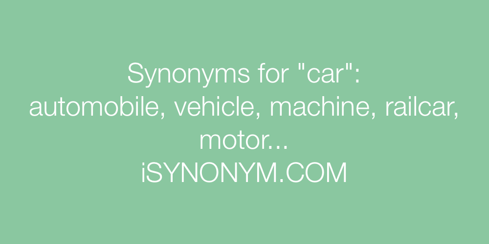 Synonyms car