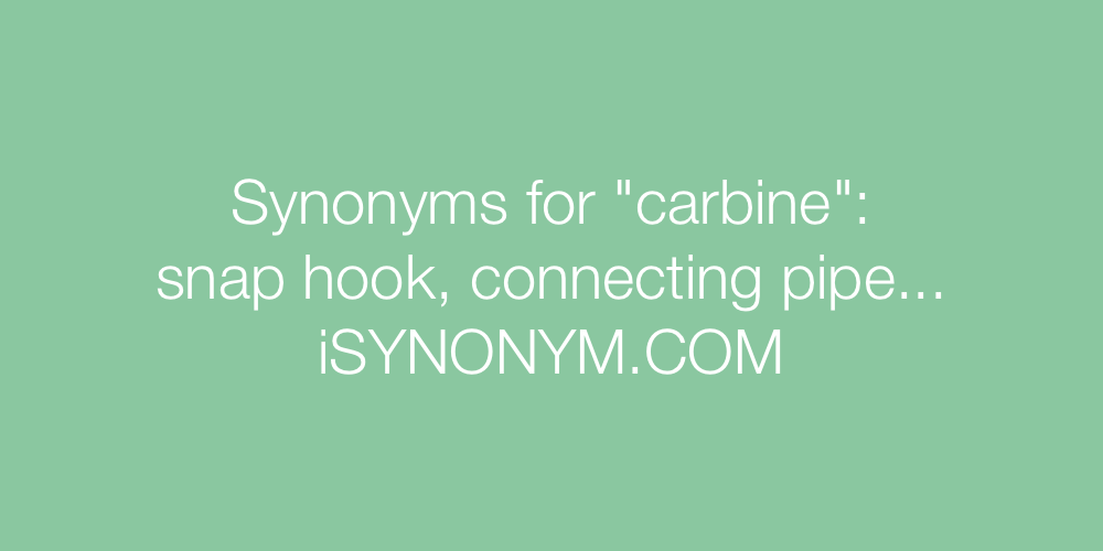 Synonyms carbine