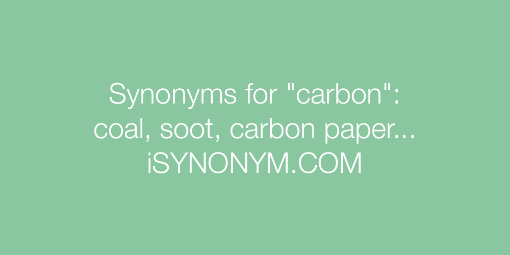 Synonyms carbon