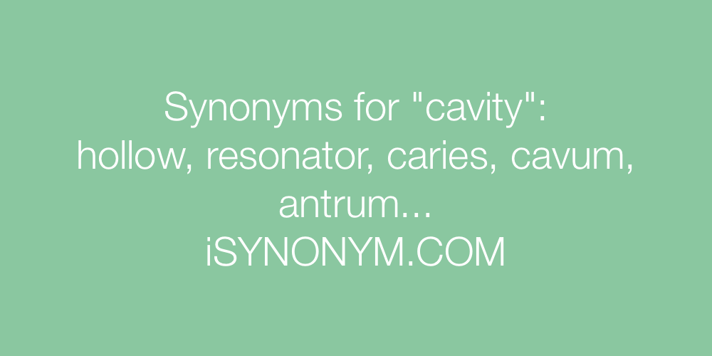 Synonyms cavity