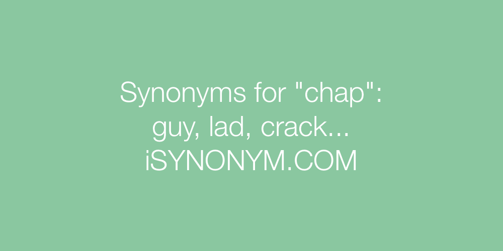 Synonyms chap