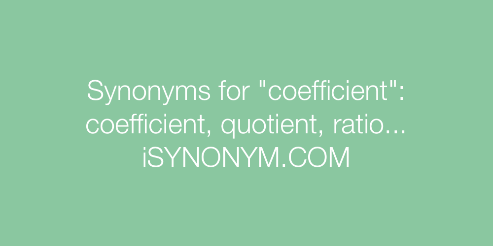 Synonyms coefficient