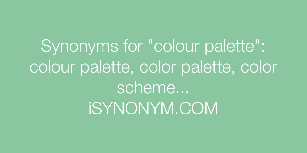 Synonyms colour palette