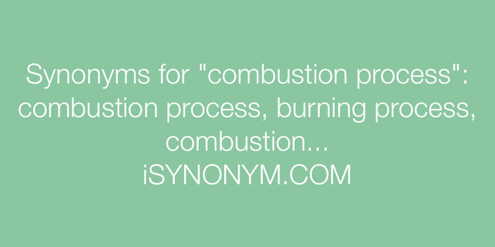 Synonyms combustion process