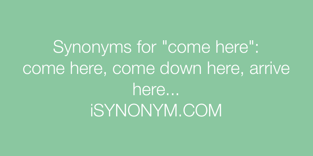 Synonyms come here