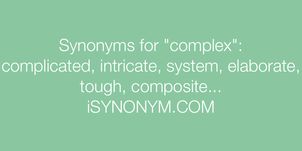 Synonyms complex