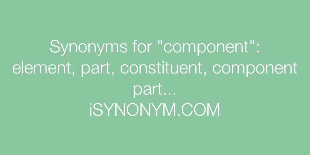 Synonyms component