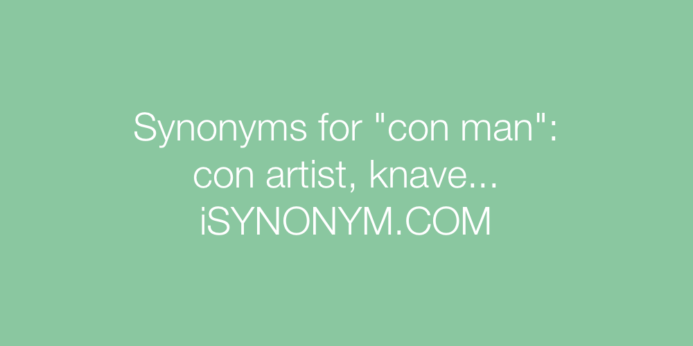 Synonyms con man