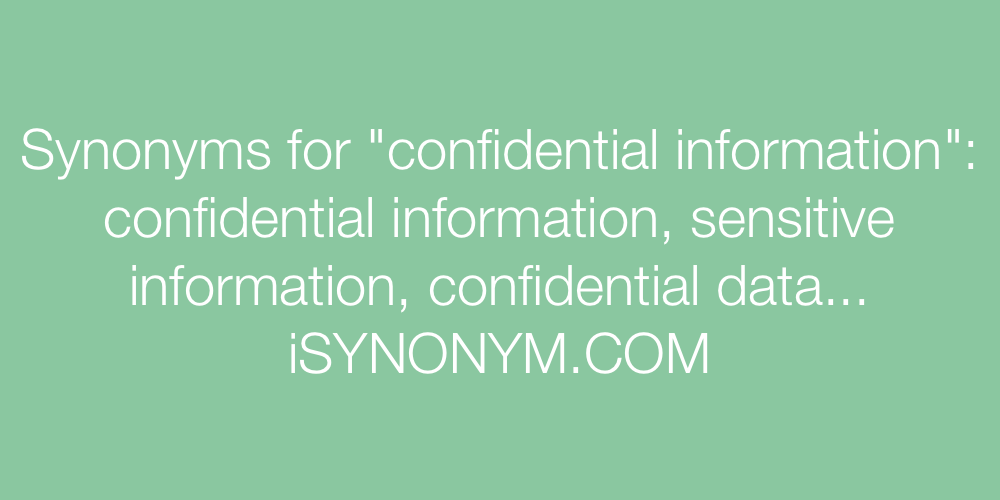information synonym