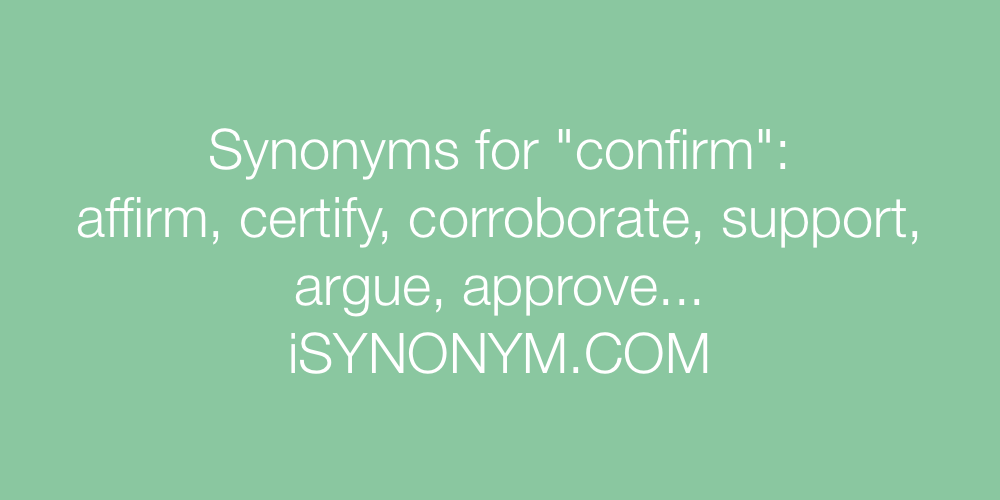 Synonyms confirm