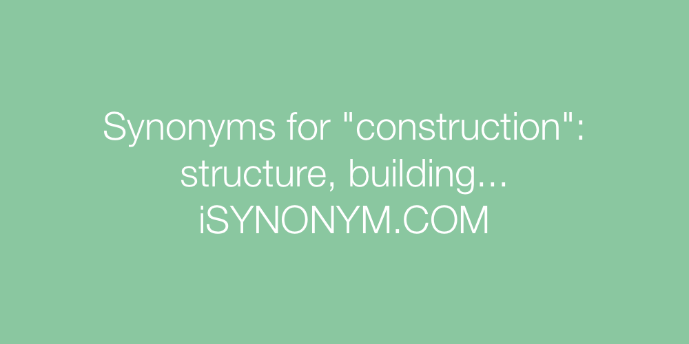 Synonyms construction