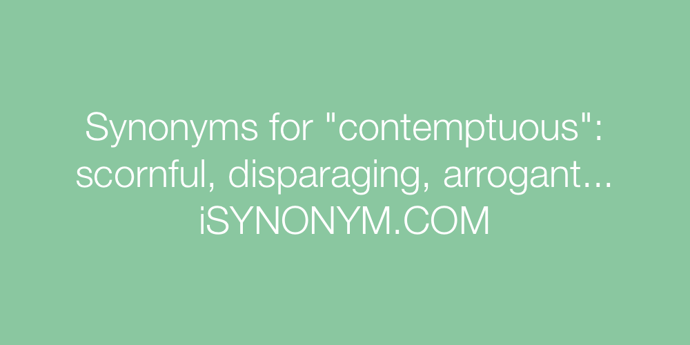 Synonyms contemptuous