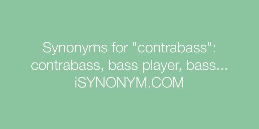 Synonyms contrabass