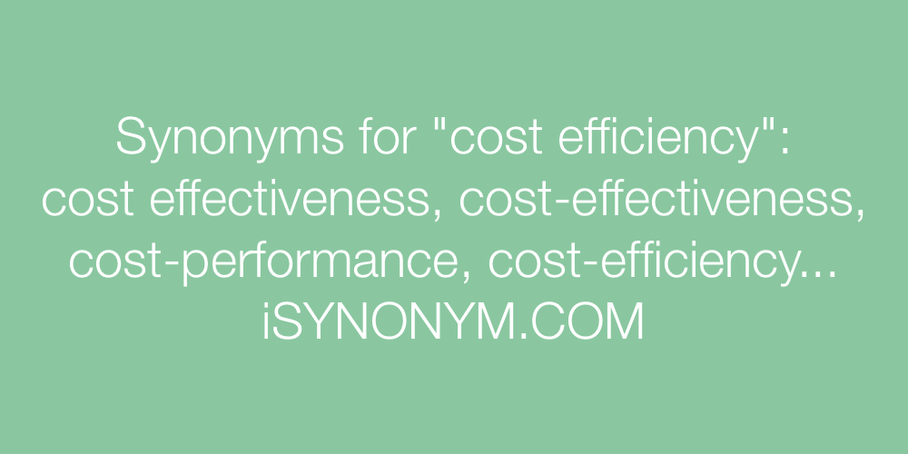 Synonyms cost efficiency