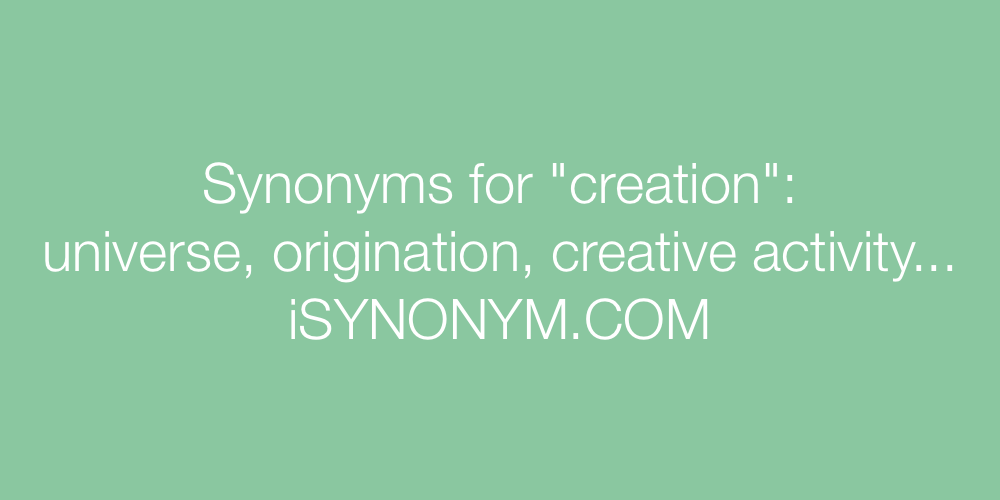 Synonyms creation