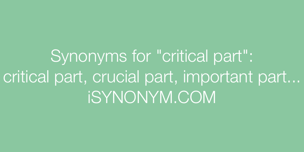 Synonyms critical part