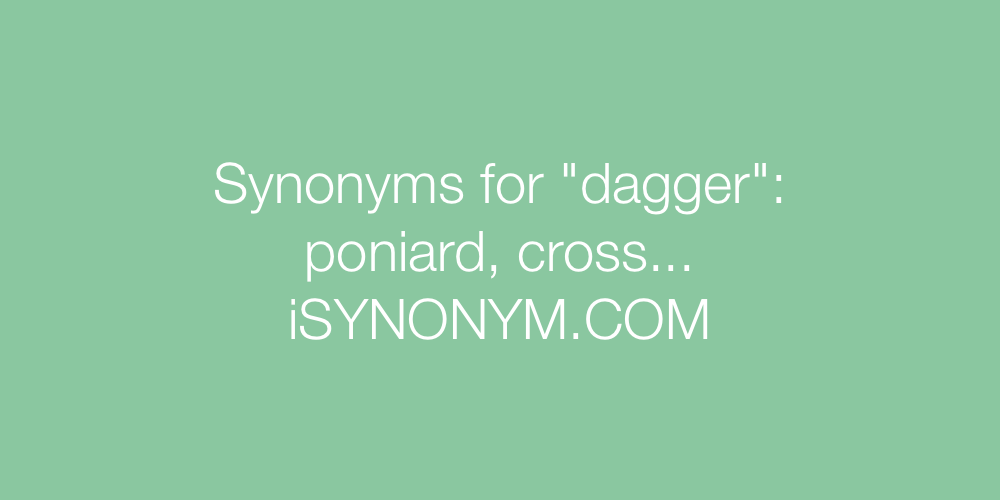 Synonyms dagger