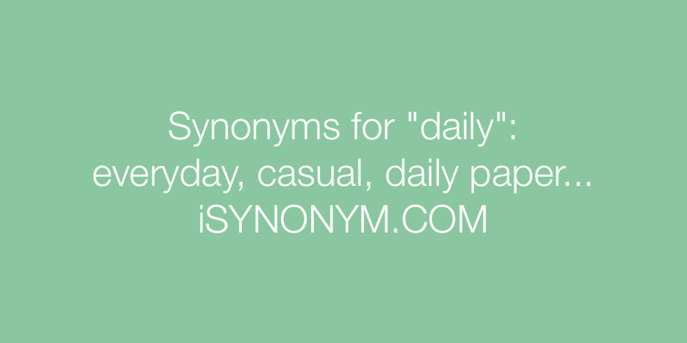 Synonyms daily