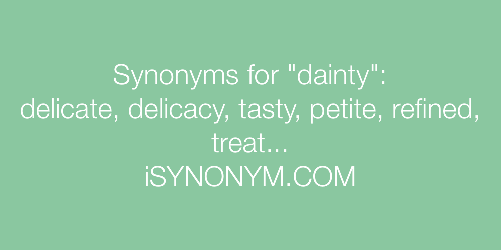 Synonyms dainty