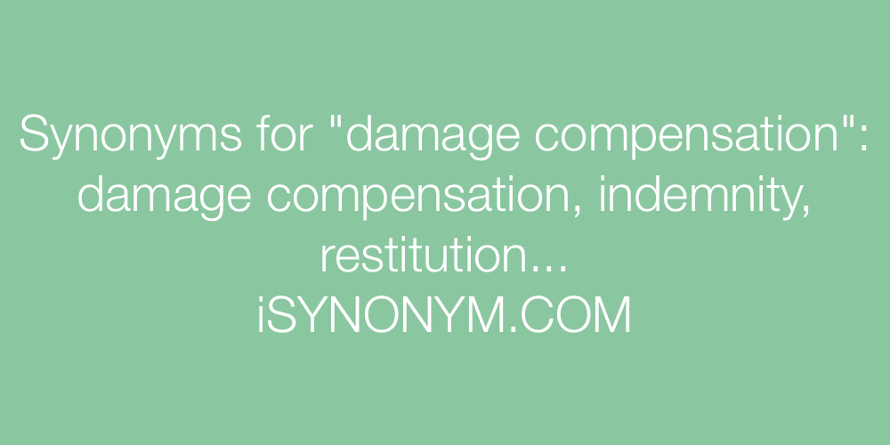 Synonyms damage compensation