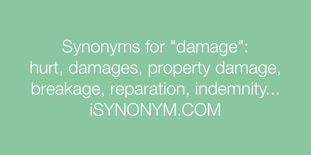 Synonyms damage