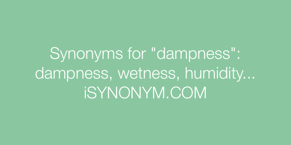 Synonyms dampness