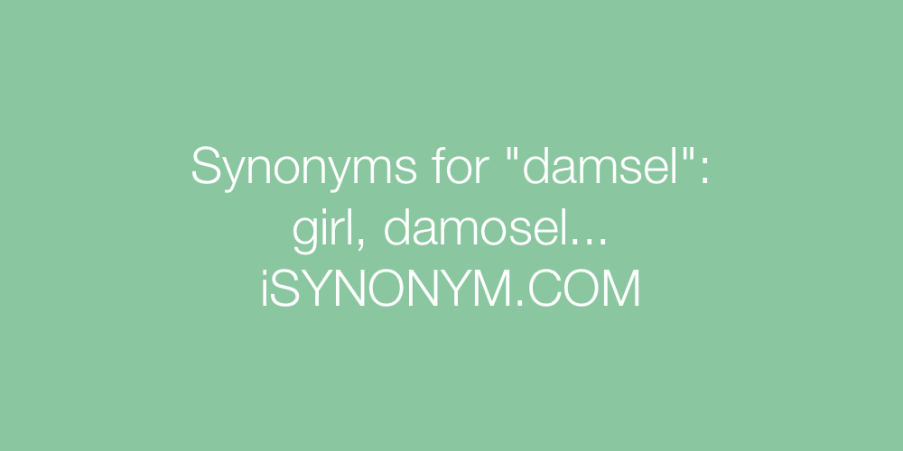 Synonyms damsel