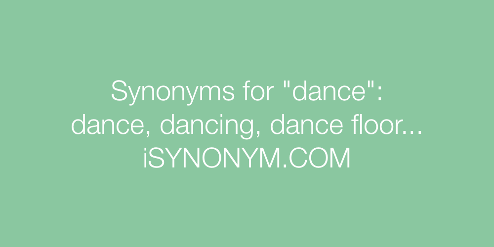 Synonyms dance