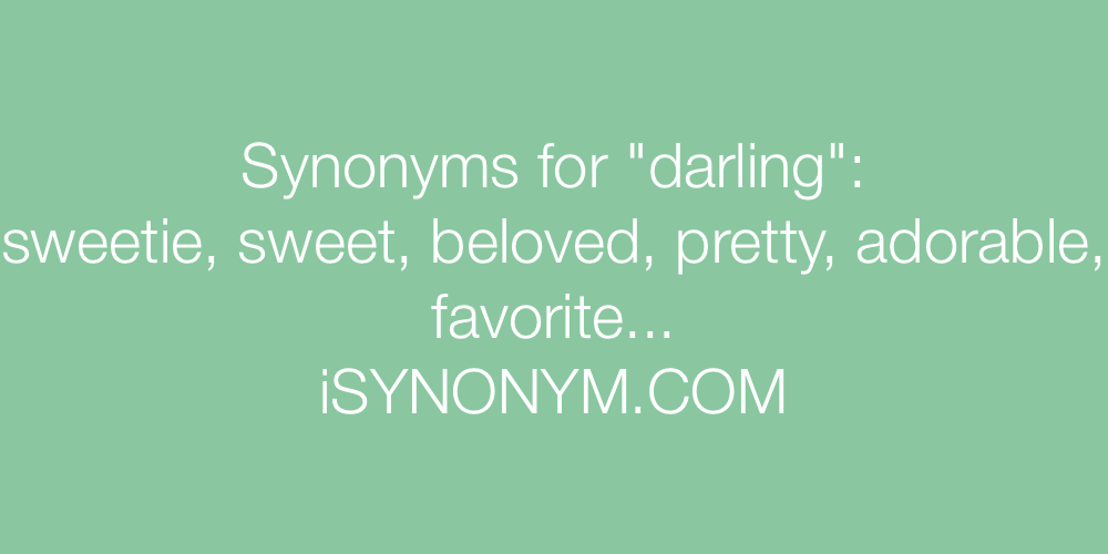 Synonyms darling