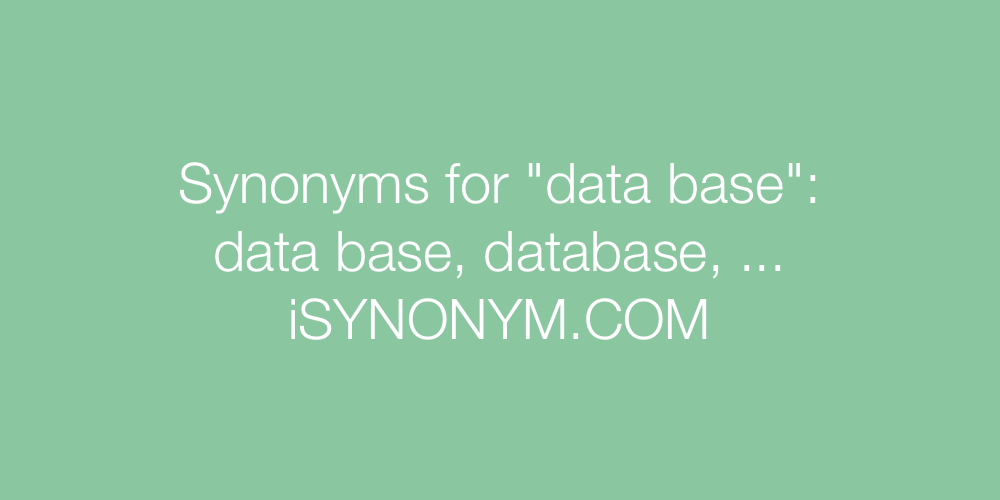 Synonyms data base