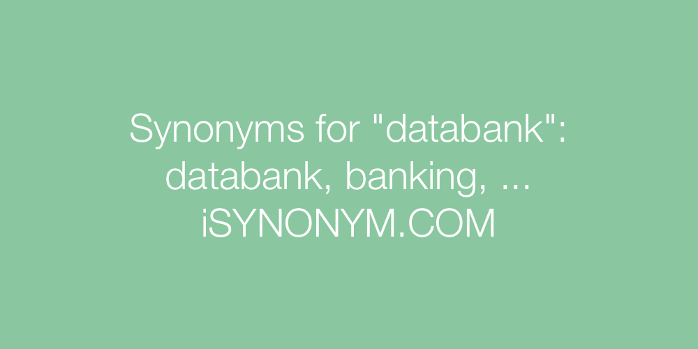 Synonyms databank