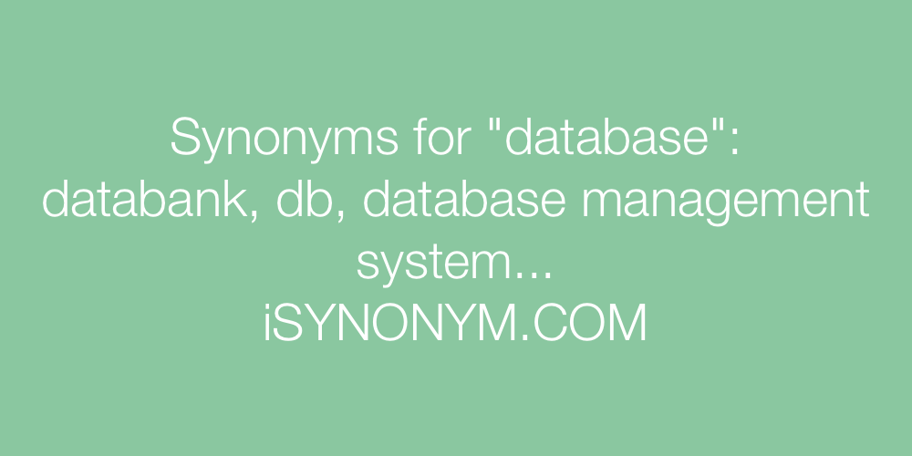 Synonyms database