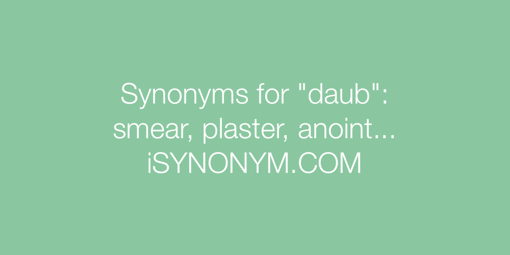 Synonyms daub