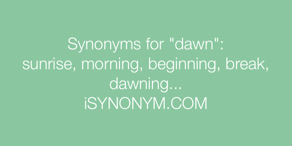 Synonyms dawn