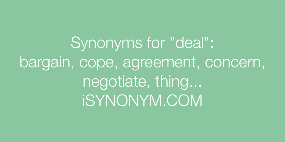 Synonyms deal
