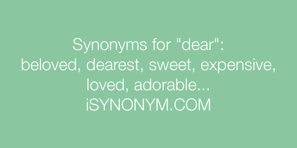 Synonyms dear