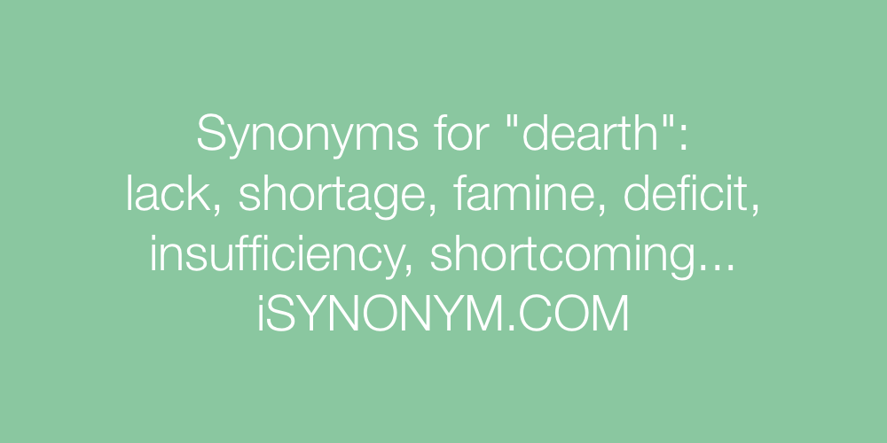 Synonyms dearth