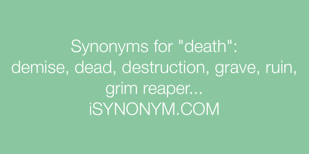 Synonyms death