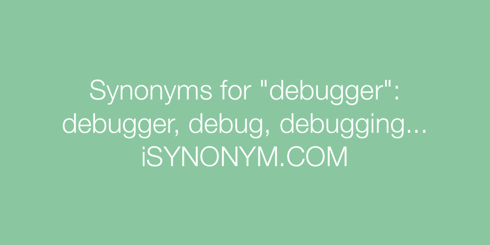 Synonyms debugger