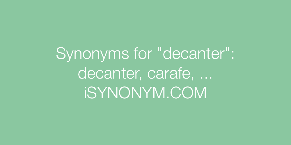 Synonyms decanter