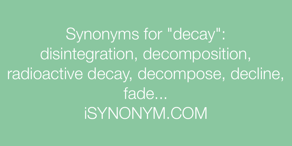 Synonyms decay