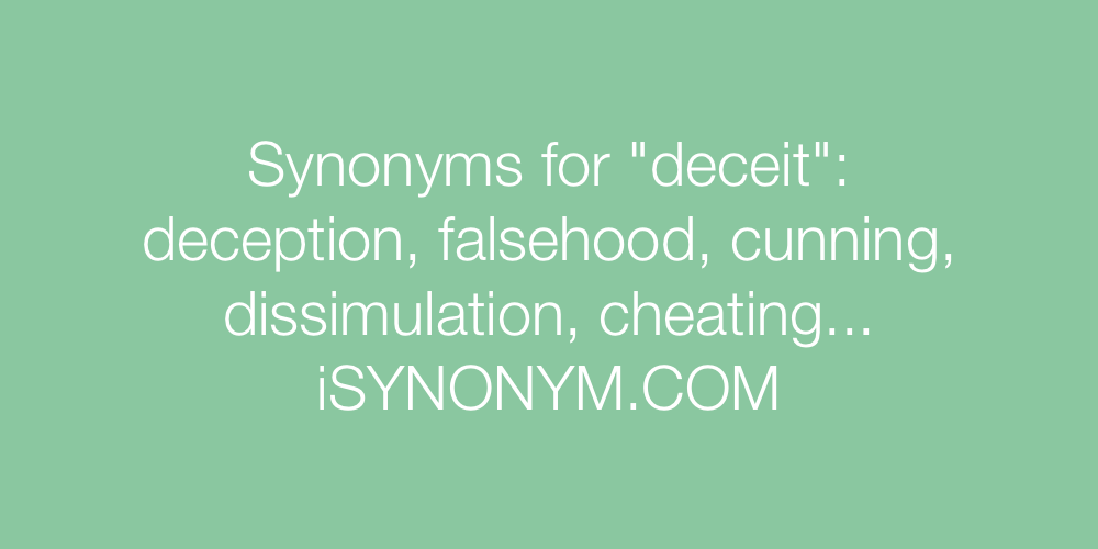 Synonyms deceit
