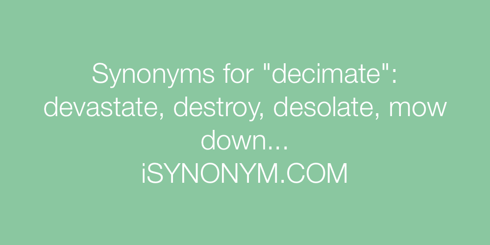 Synonyms decimate