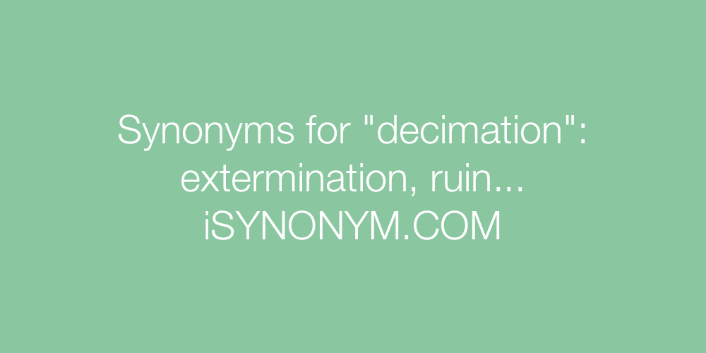 Synonyms decimation