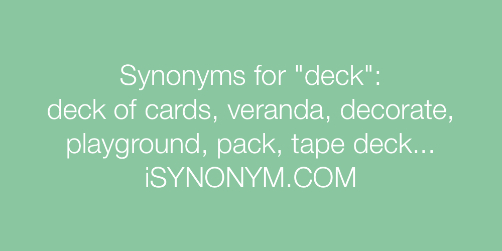 Synonyms deck