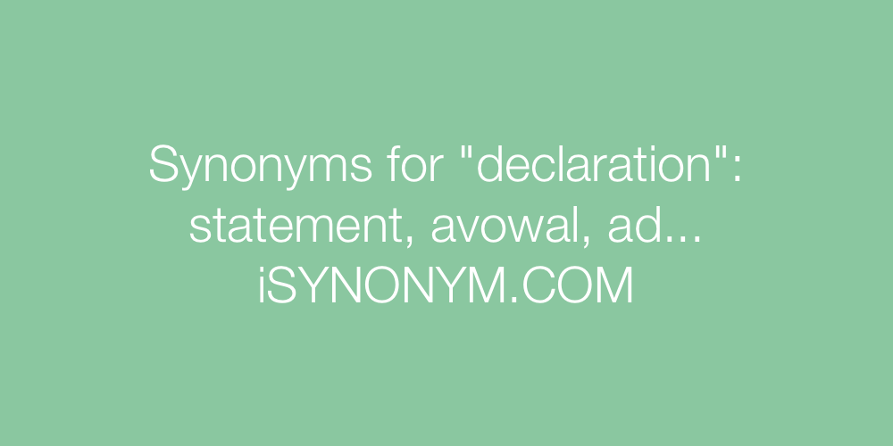Synonyms declaration