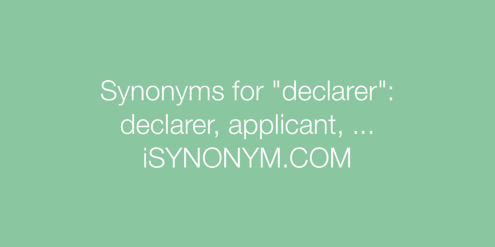 Synonyms declarer